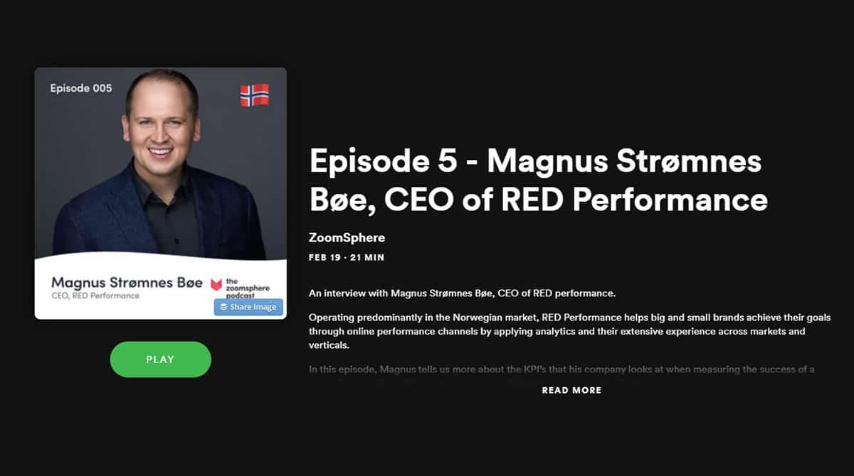Zoomsphere podcast ep. 5 2020 Magnus Strømnes Bøe